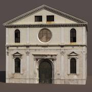 Церковь Низкополигональная 3d модель 3d model