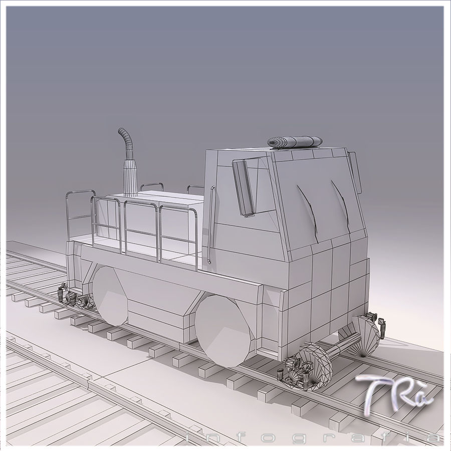 LOCOMOTIVE TRACTOR royalty-free 3d model - Preview no. 6
