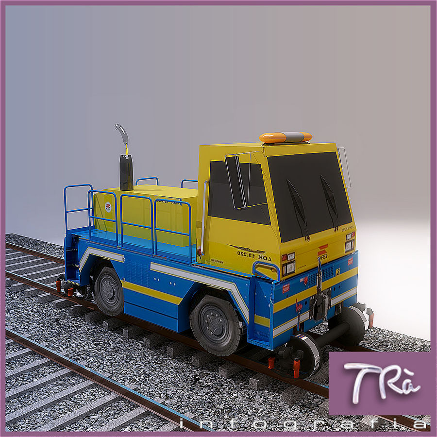 LOCOMOTIVE TRACTOR royalty-free 3d model - Preview no. 1