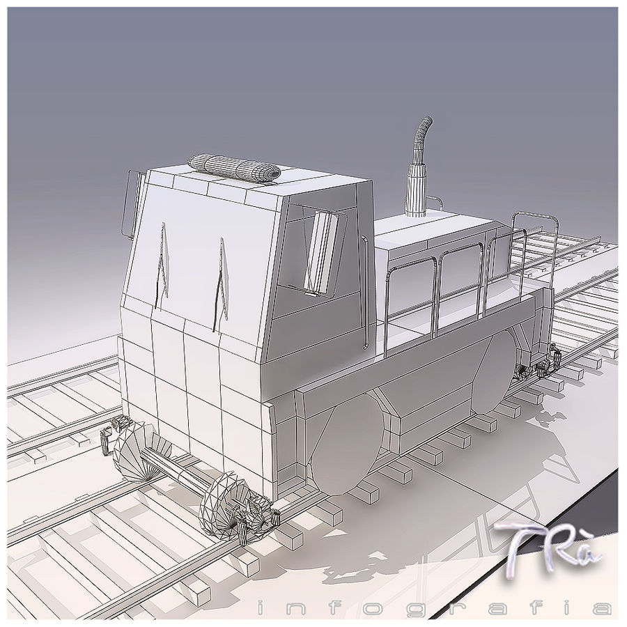 LOCOMOTIVE TRACTOR royalty-free 3d model - Preview no. 5
