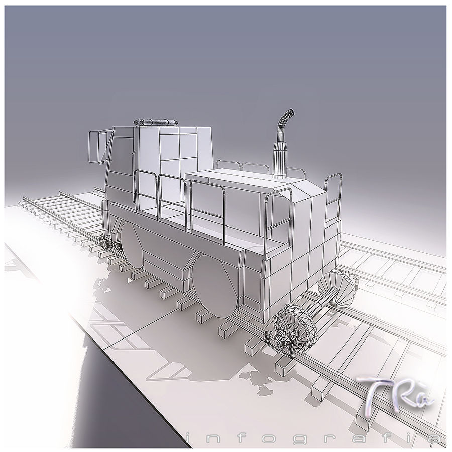 LOCOMOTIVE TRACTOR royalty-free 3d model - Preview no. 4