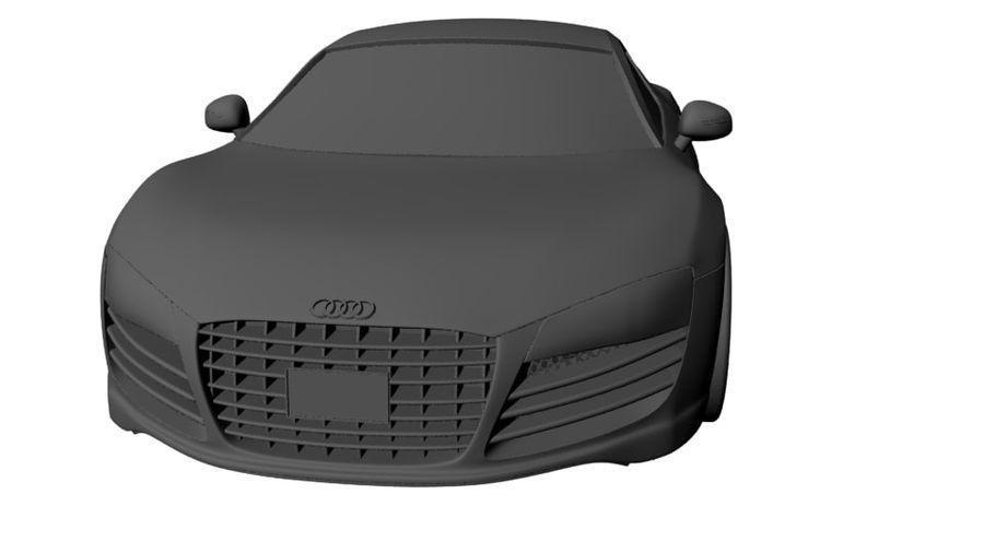 Audi r8 royalty-free 3d model - Preview no. 1