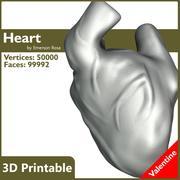 Valentine 3D Yazdırılabilir - Gerçekçi Kalp 3d model