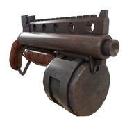 蒸汽朋克Shot弹枪 3d model
