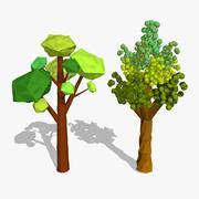 만화 나무 낮은 폴리 3d model
