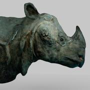 Cabeza de rinoceronte modelo 3d
