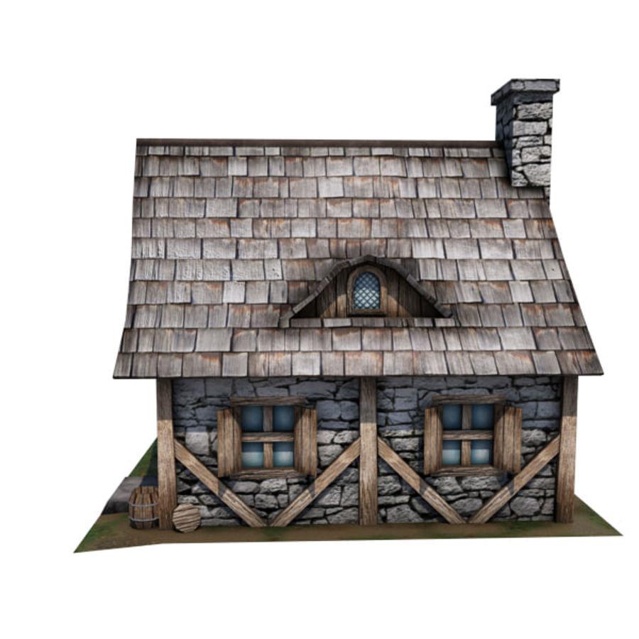 中世纪建筑08小屋 royalty-free 3d model - Preview no. 14