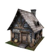 Medieval Building 08 Cottage 3d model