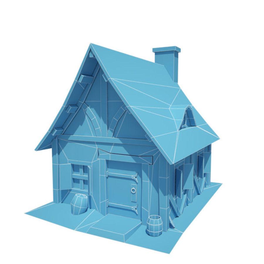 中世纪建筑08小屋 royalty-free 3d model - Preview no. 3