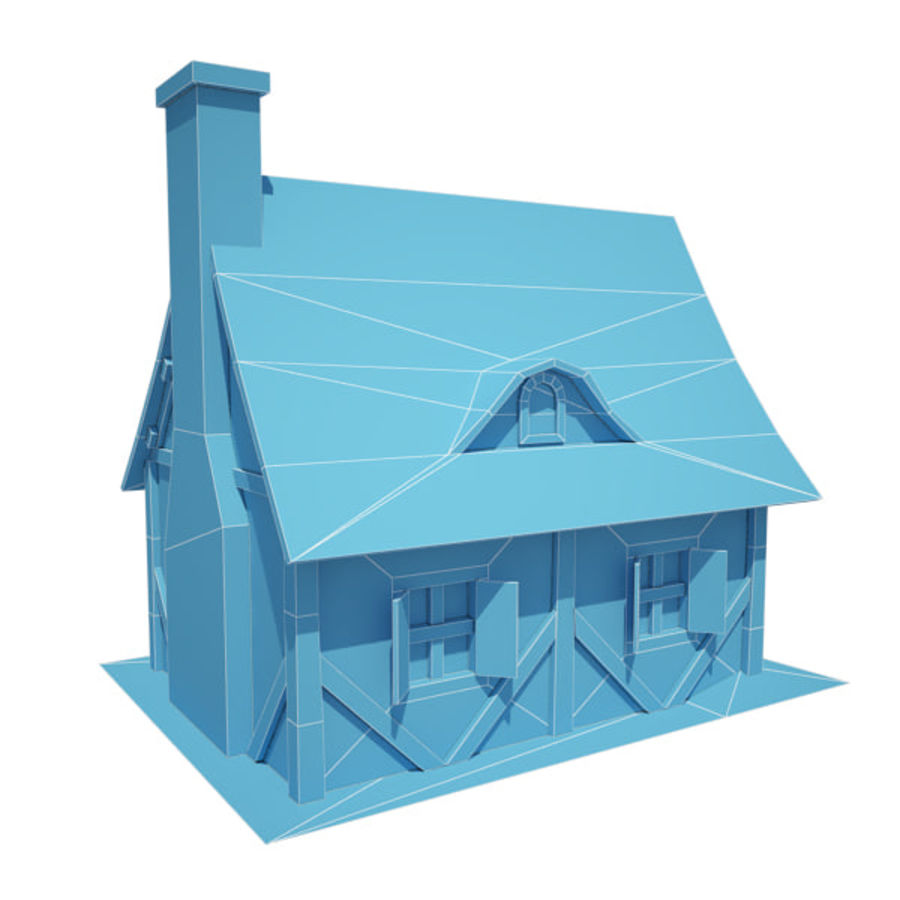 中世纪建筑08小屋 royalty-free 3d model - Preview no. 9