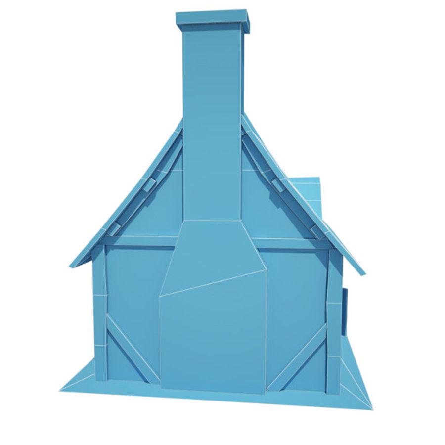 中世纪建筑08小屋 royalty-free 3d model - Preview no. 11