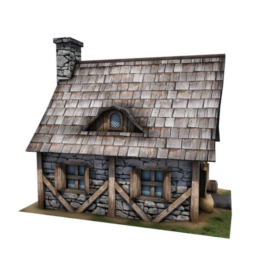 中世纪建筑08小屋 royalty-free 3d model - Preview no. 6