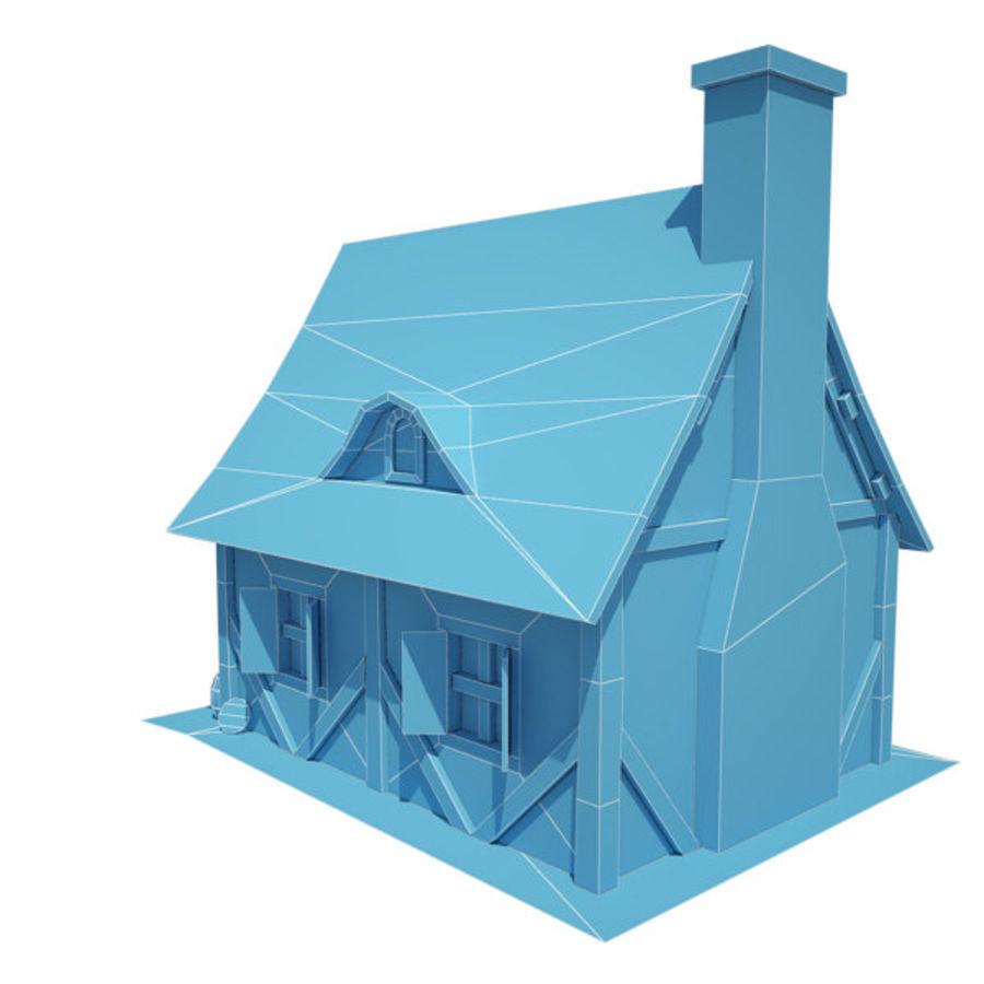 中世纪建筑08小屋 royalty-free 3d model - Preview no. 13