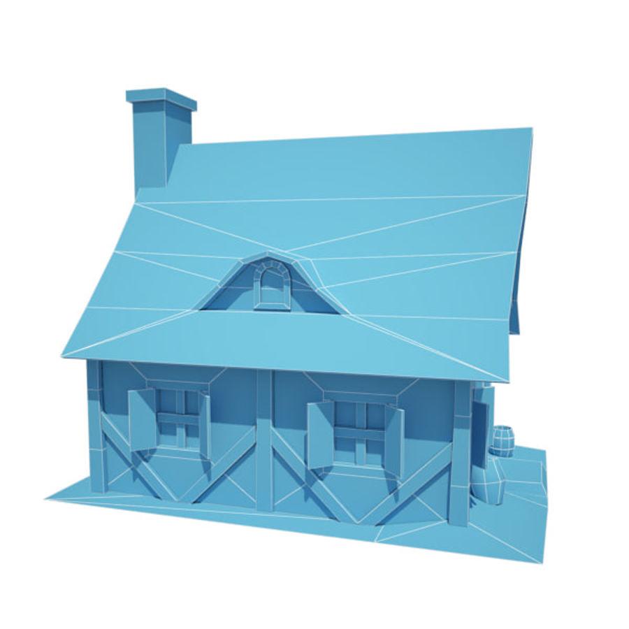 中世纪建筑08小屋 royalty-free 3d model - Preview no. 7