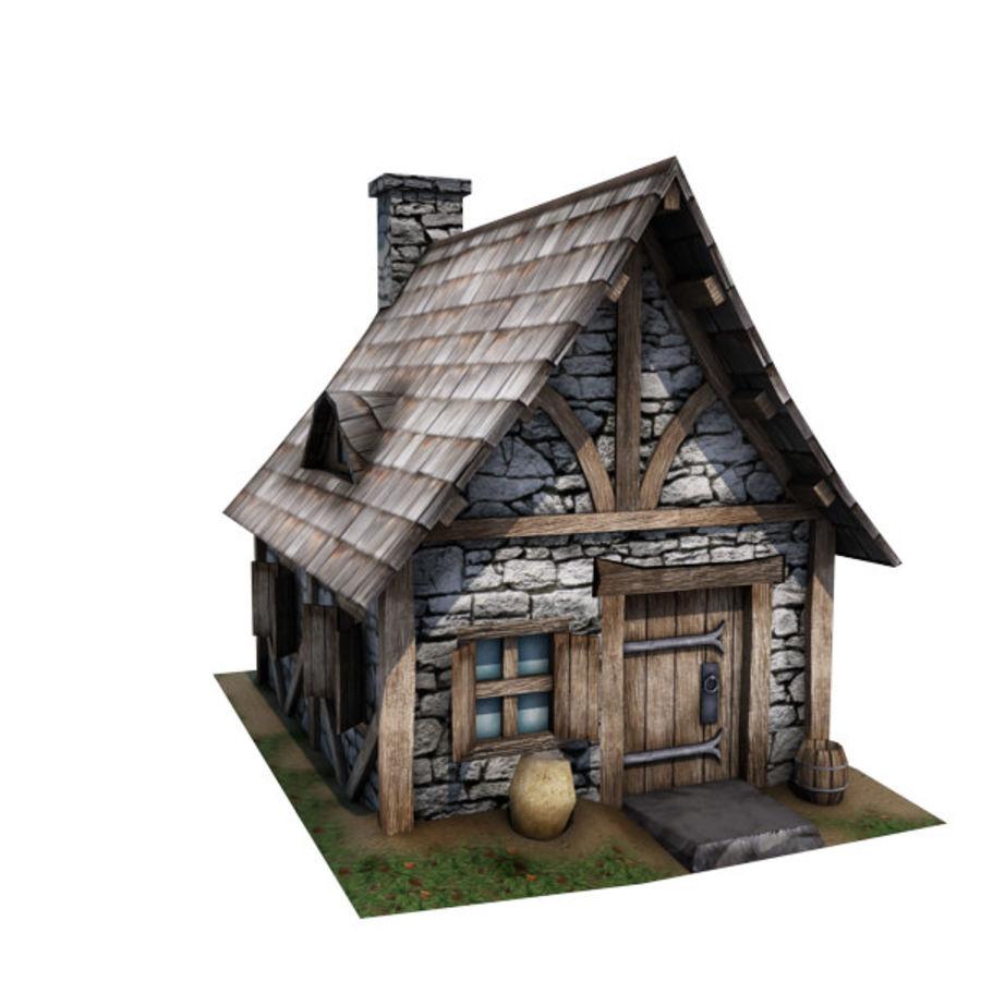 中世纪建筑08小屋 royalty-free 3d model - Preview no. 4