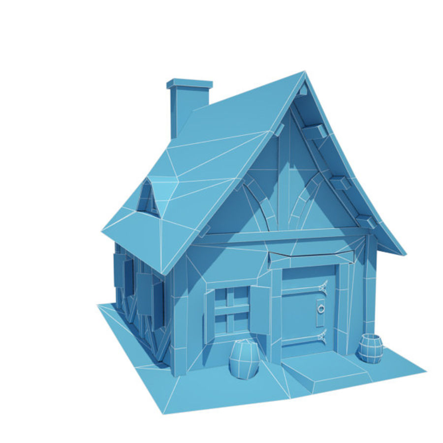 中世纪建筑08小屋 royalty-free 3d model - Preview no. 5