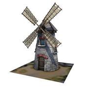 中世纪建筑09风车 3d model