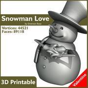 Valentine 3D Yazdırılabilir - Kardan adamlar da seviyorum! 3d model