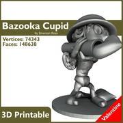 Valentine 3D imprimible: una bazuca para el amor verdadero modelo 3d
