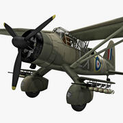 Westland Lysander British WWII Liaison Aircraft 3d model