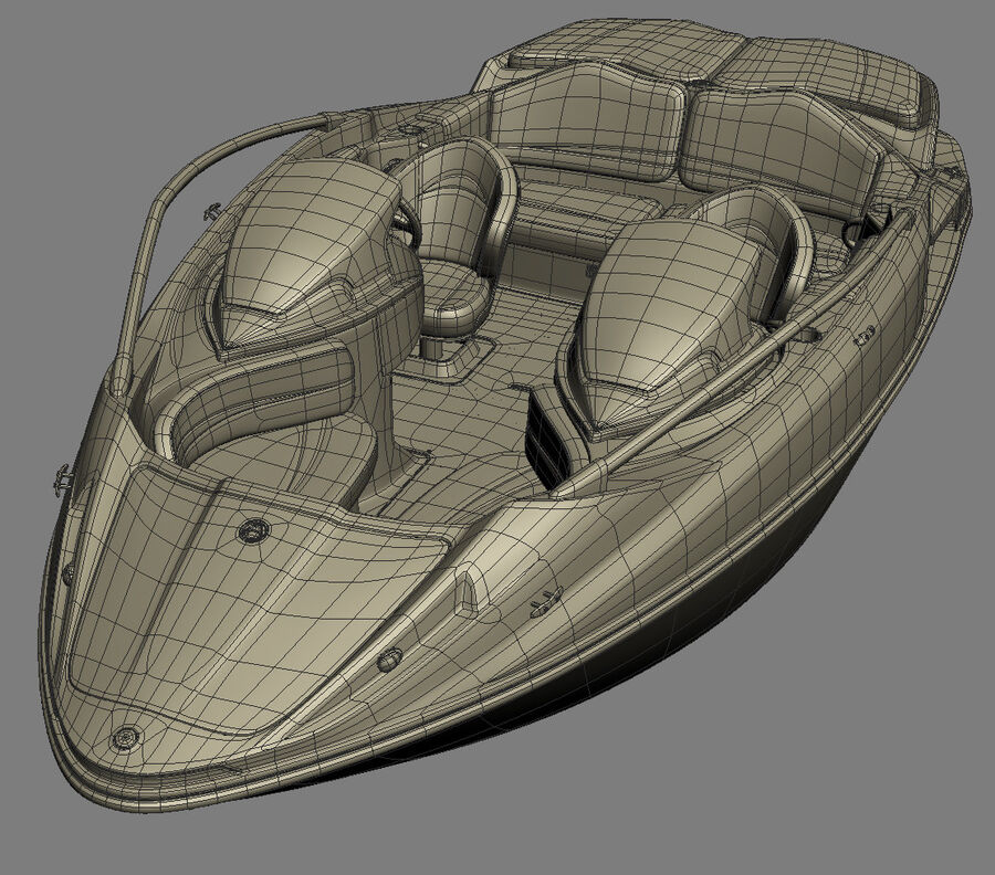 SEA-DOO Speedster 200 and trailer royalty-free 3d model - Preview no. 39