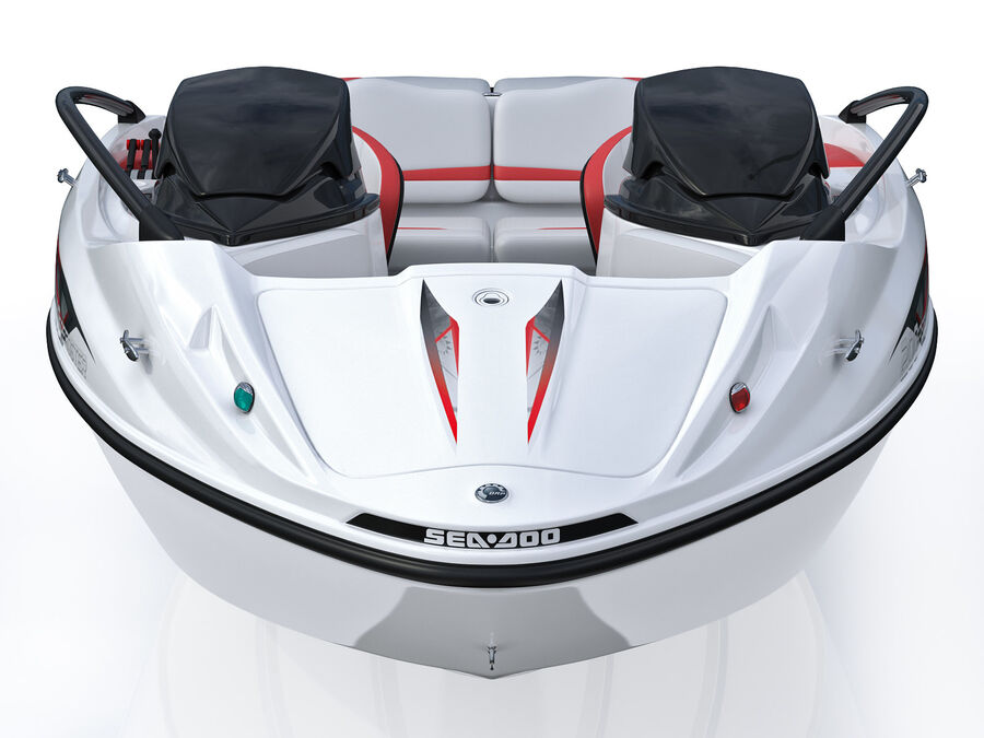SEA-DOO Speedster 200 and trailer royalty-free 3d model - Preview no. 21