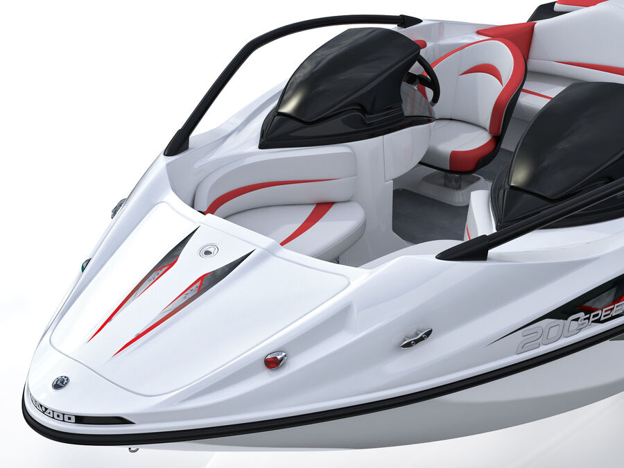 SEA-DOO Speedster 200 and trailer royalty-free 3d model - Preview no. 27