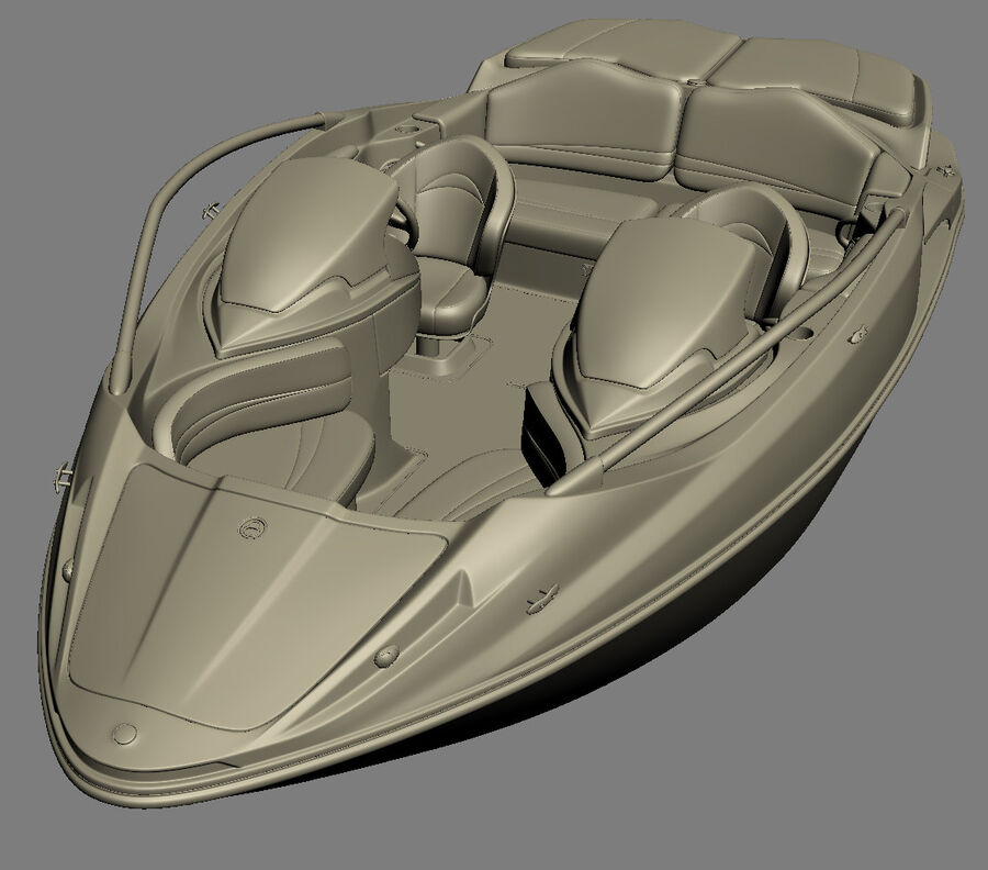 SEA-DOO Speedster 200 and trailer royalty-free 3d model - Preview no. 38