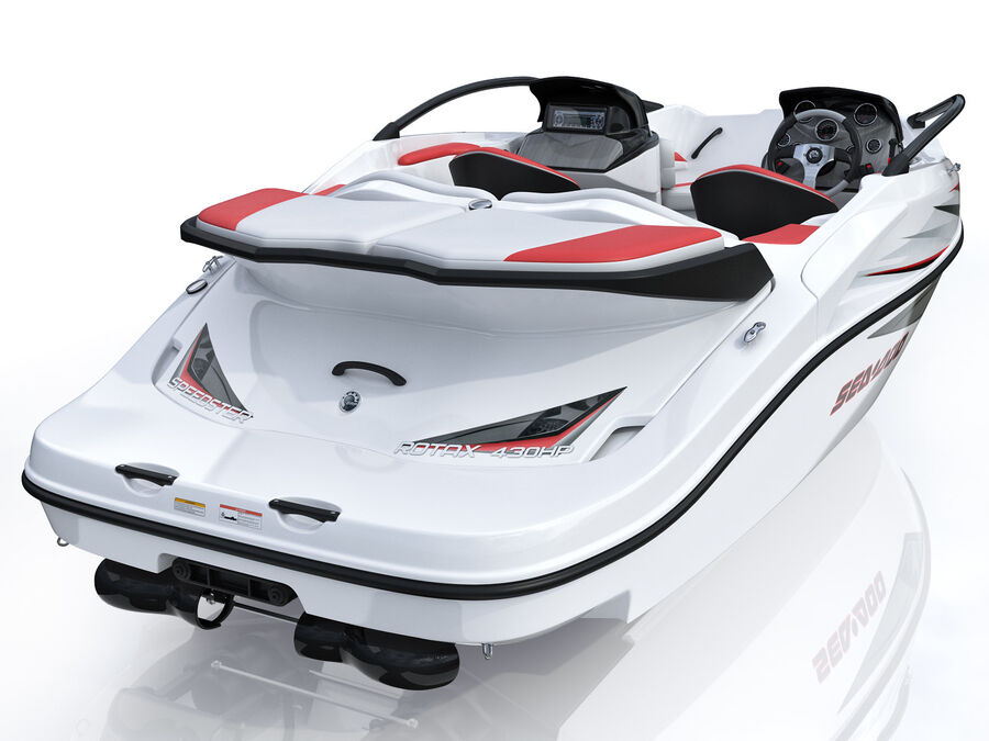 SEA-DOO Speedster 200 and trailer royalty-free 3d model - Preview no. 17