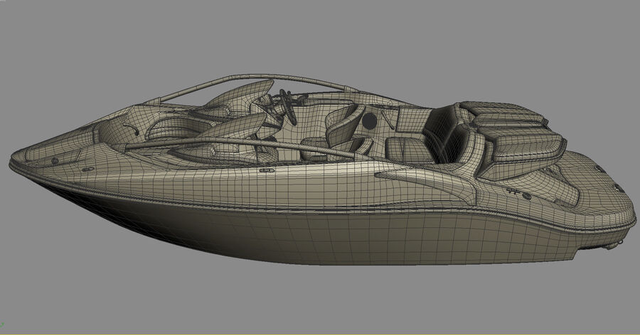 SEA-DOO Speedster 200 and trailer royalty-free 3d model - Preview no. 32
