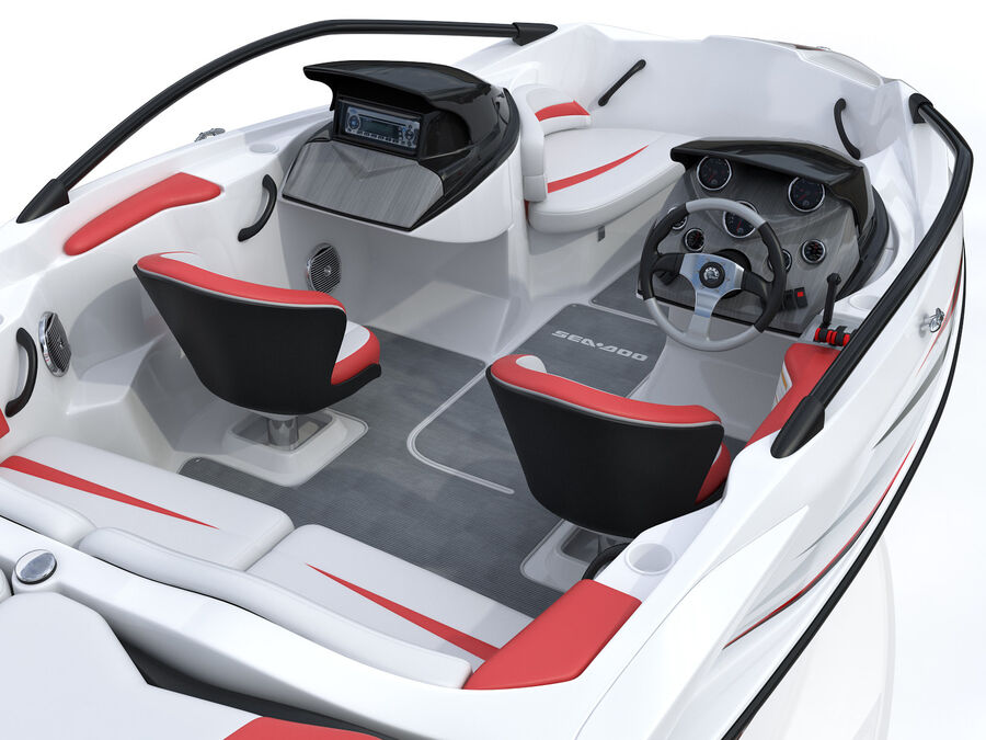 SEA-DOO Speedster 200 and trailer royalty-free 3d model - Preview no. 29