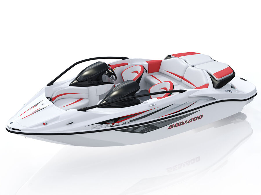 SEA-DOO Speedster 200 and trailer royalty-free 3d model - Preview no. 20