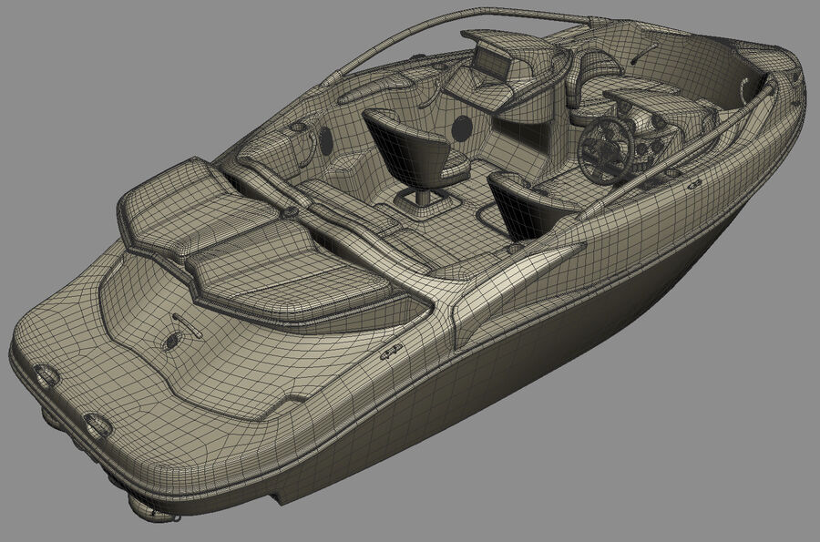 SEA-DOO Speedster 200 and trailer royalty-free 3d model - Preview no. 36