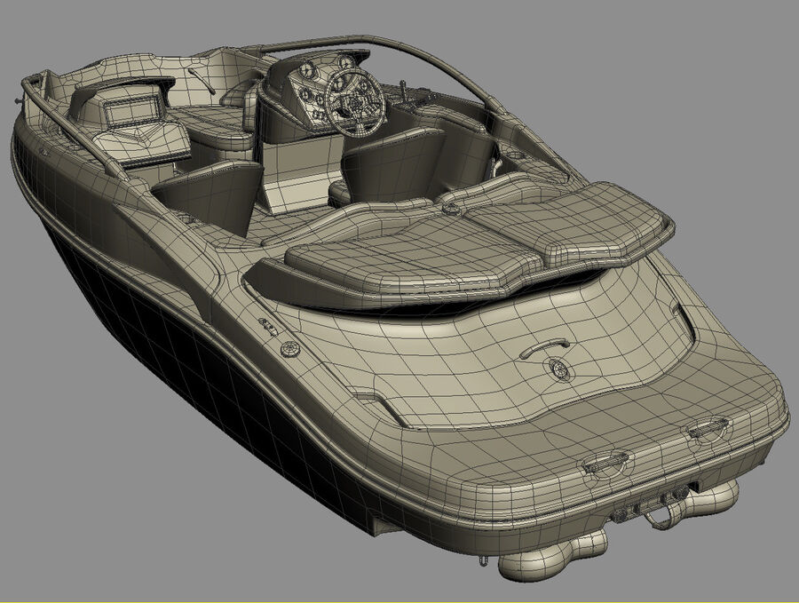 SEA-DOO Speedster 200 and trailer royalty-free 3d model - Preview no. 41