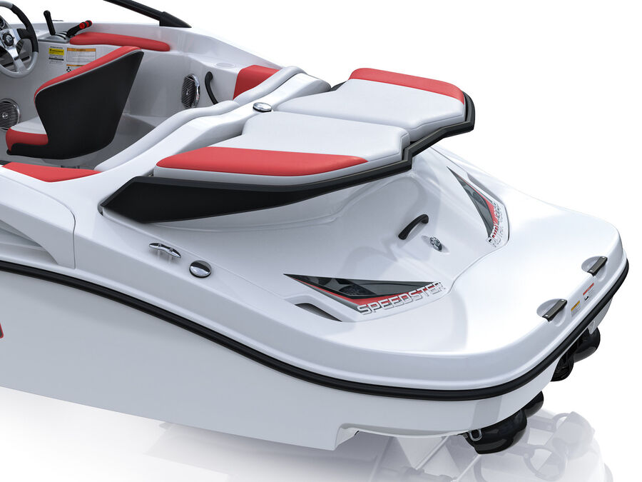 SEA-DOO Speedster 200 and trailer royalty-free 3d model - Preview no. 23