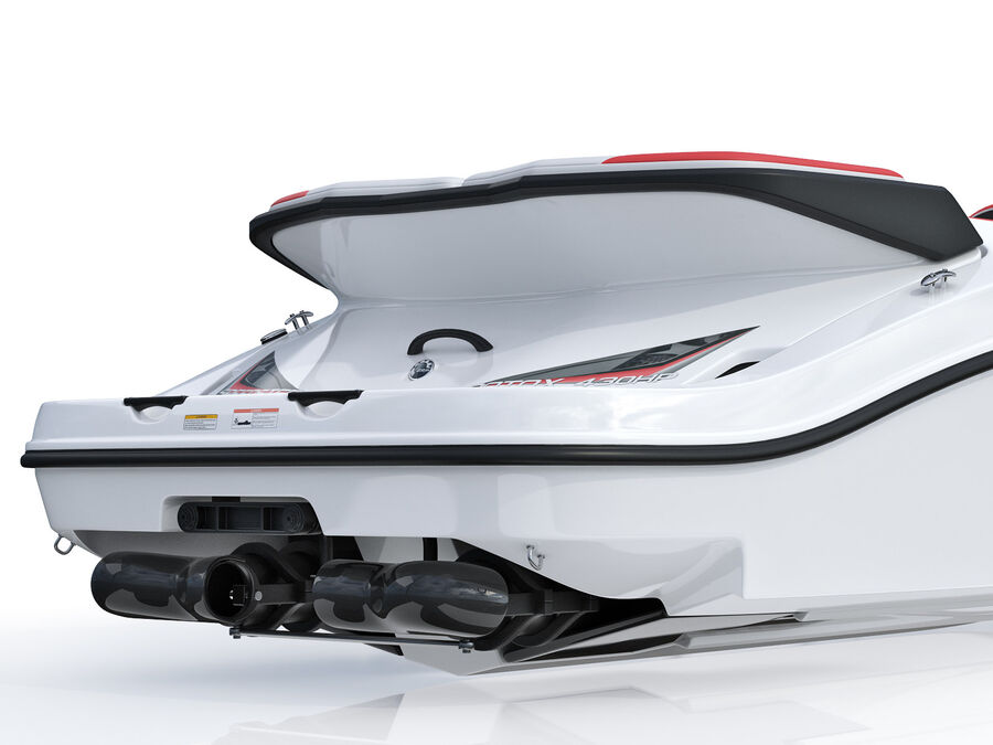 SEA-DOO Speedster 200 and trailer royalty-free 3d model - Preview no. 22