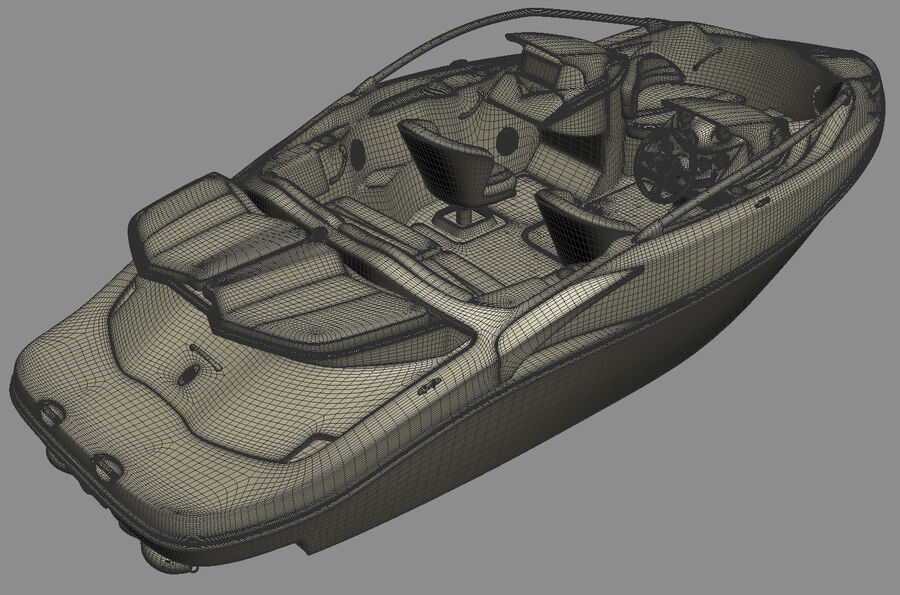 SEA-DOO Speedster 200 and trailer royalty-free 3d model - Preview no. 37
