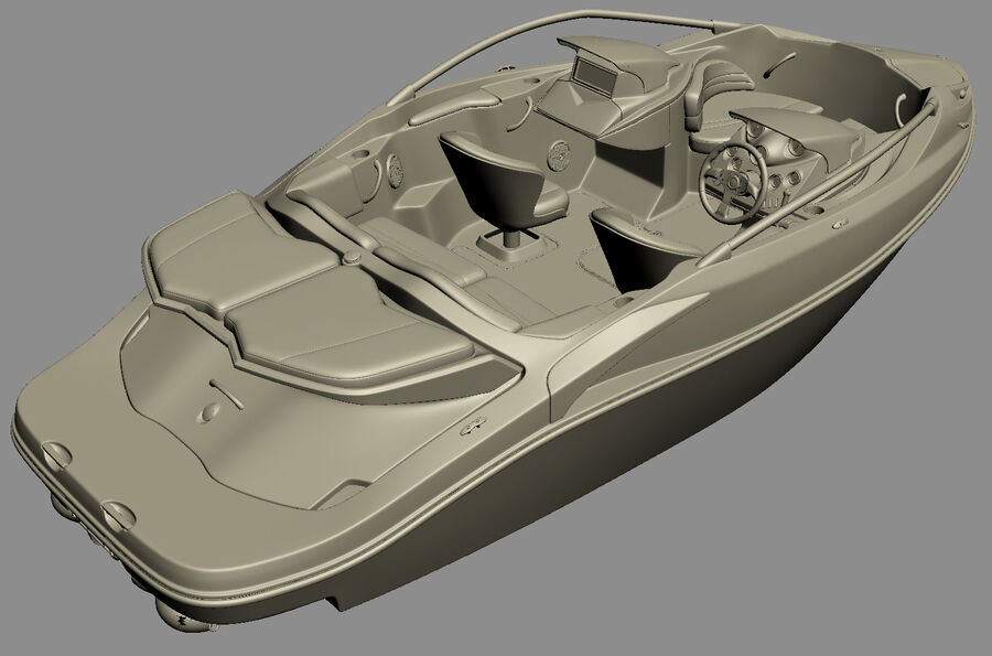 SEA-DOO Speedster 200 and trailer royalty-free 3d model - Preview no. 34