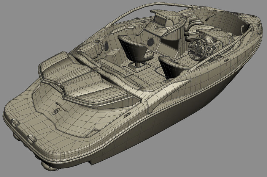 SEA-DOO Speedster 200 and trailer royalty-free 3d model - Preview no. 35