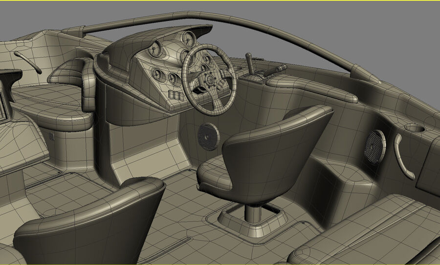 SEA-DOO Speedster 200 and trailer royalty-free 3d model - Preview no. 43
