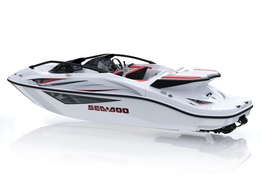 SEA-DOO Speedster 200 and trailer royalty-free 3d model - Preview no. 13