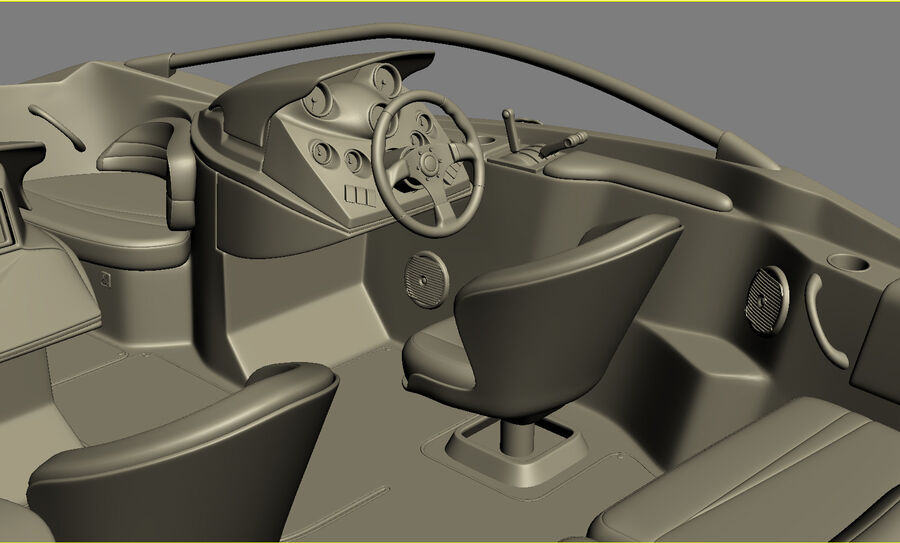 SEA-DOO Speedster 200 and trailer royalty-free 3d model - Preview no. 42