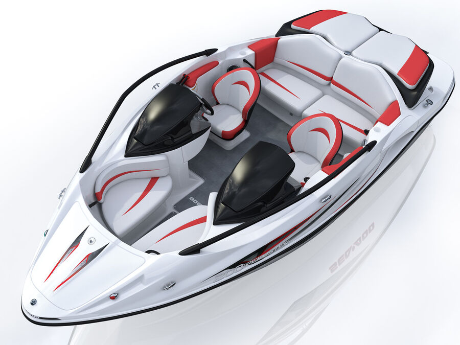 SEA-DOO Speedster 200 and trailer royalty-free 3d model - Preview no. 16