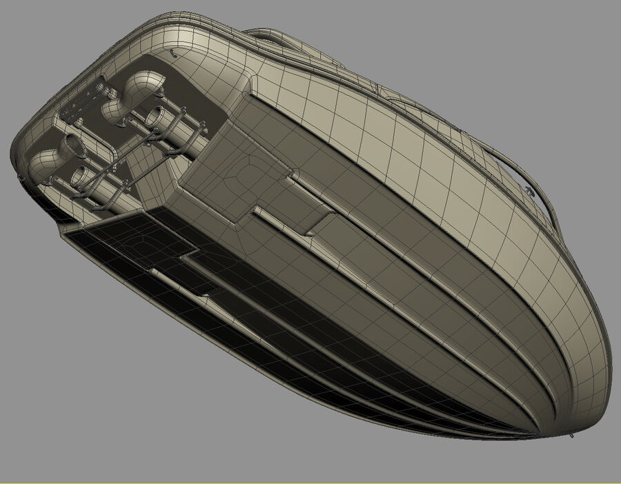 SEA-DOO Speedster 200 and trailer royalty-free 3d model - Preview no. 49