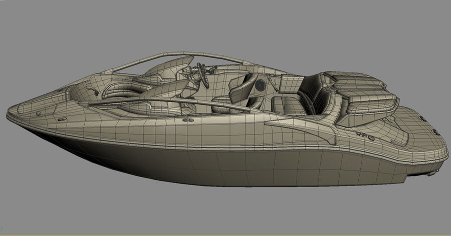 SEA-DOO Speedster 200 and trailer royalty-free 3d model - Preview no. 31