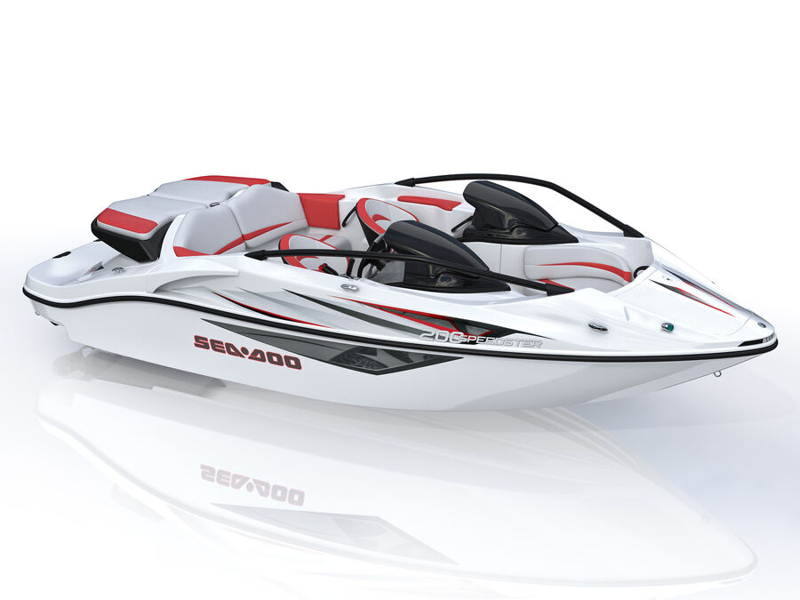 SEA-DOO Speedster 200 and trailer royalty-free 3d model - Preview no. 19
