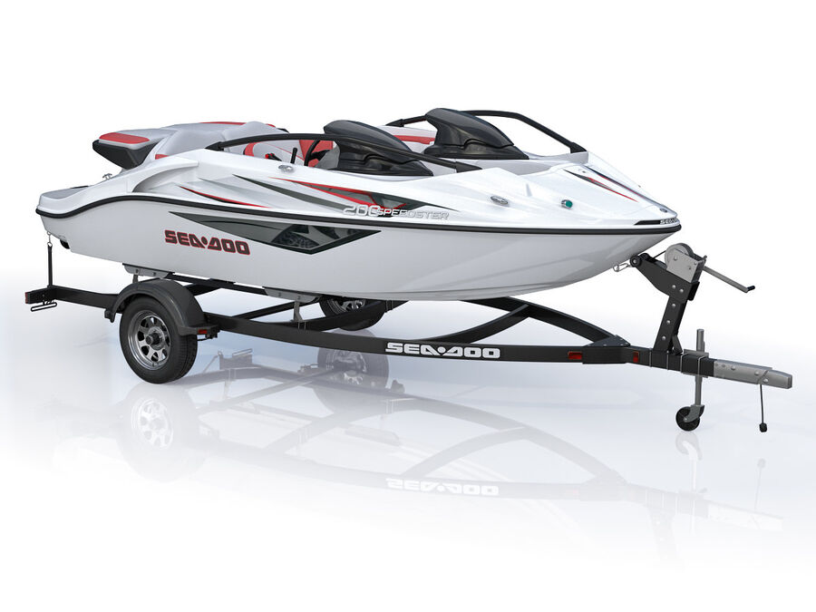 SEA-DOO Speedster 200 and trailer royalty-free 3d model - Preview no. 5
