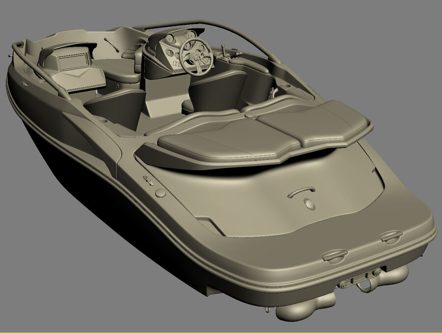 SEA-DOO Speedster 200 and trailer royalty-free 3d model - Preview no. 40