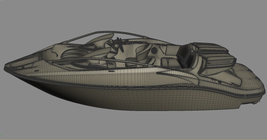 SEA-DOO Speedster 200 and trailer royalty-free 3d model - Preview no. 33