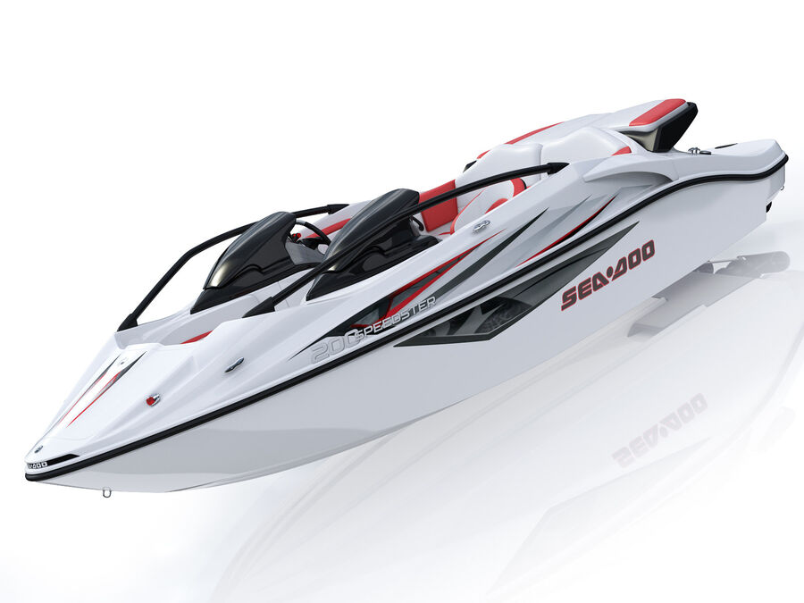 SEA-DOO Speedster 200 and trailer royalty-free 3d model - Preview no. 12
